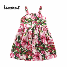 Kimocat Summer Baby Girl Clothes Princess Girl Dress Kids Red Clothes Dresses for Girl Children Clothing Teenager Party Costumes 1pcs girls dress clothes baby girl dresses children lovely cartoon kids girl princess party casual dress clothing 2 color yy1571