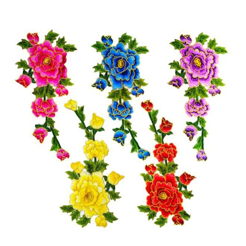 Apliques De Parche Flor Floral 3 artículo Set Bordado Coser//hierro en Insignia Motif