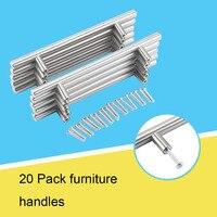 20Pcs 128mm Modern Pomo Puerta Furniture T Bar Handle Pull Knob Kitchen Door Cabinet Hardware Handle