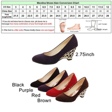Gold High Heels Office Ladies Shoes Round Toe