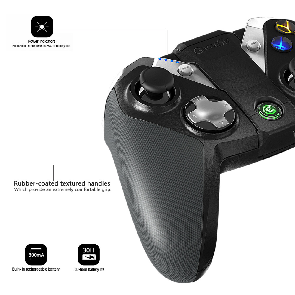 GameSir G4s Bluetooth Gamepad manette sans fil pour Android Téléphone/Android Tablet/Android TV/Sumsung Vitesse VR/Jouer station3 - 4