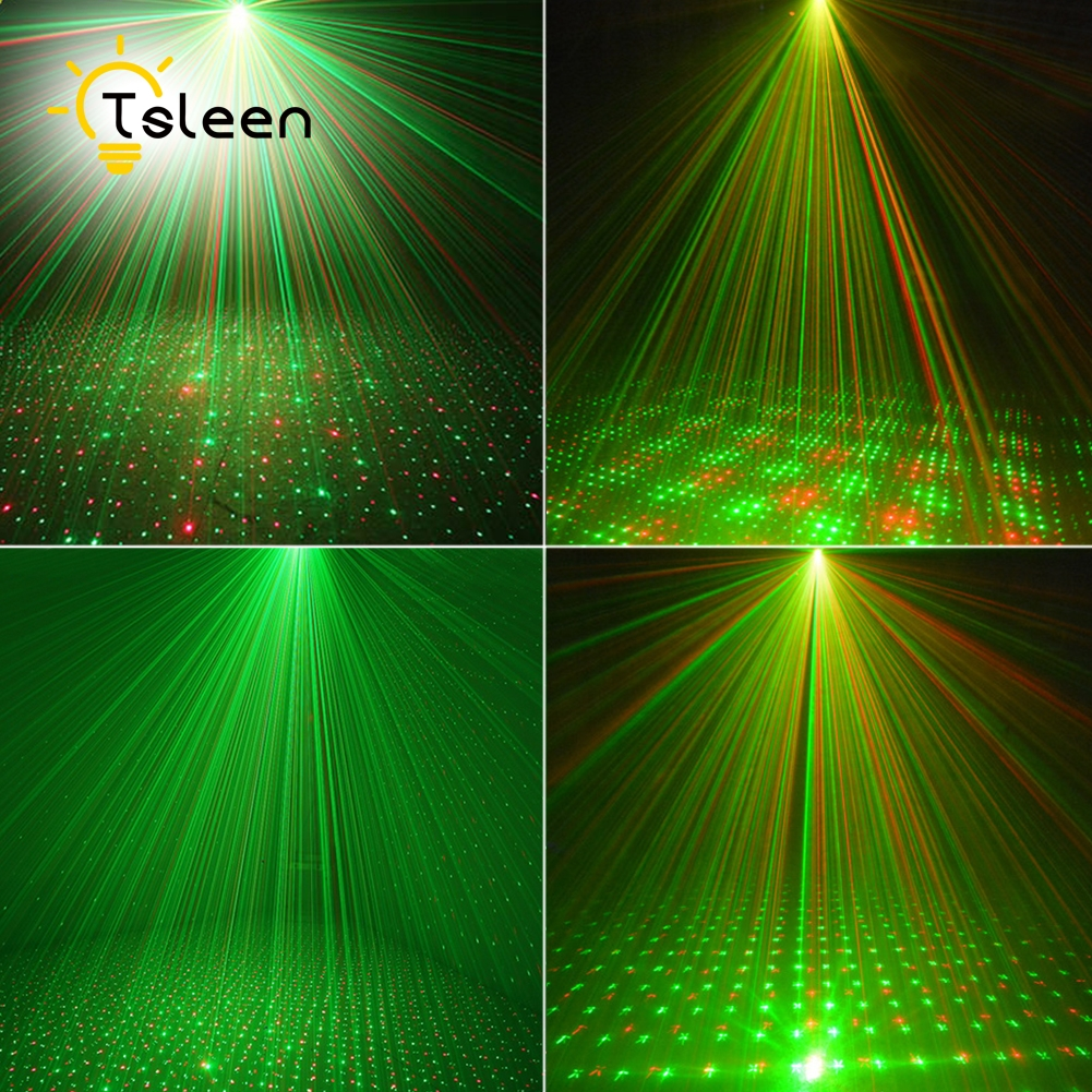 Cheap Red Green with Tripod dj lighting equipment music effect laser lights for home par led CE ROHS Low heat stars twinkle