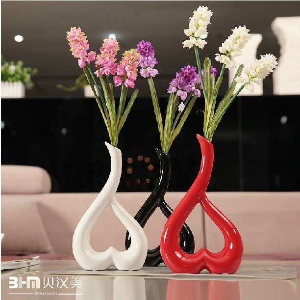 Modern home decor ceramic vase flower vases decorative for Decorative flowers for crafts
