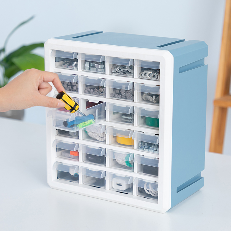 Wall-mounted Tool Box Electronic Parts Box 24 Lattice Drawer Type Hardware Tool Storage Component Accessory Box