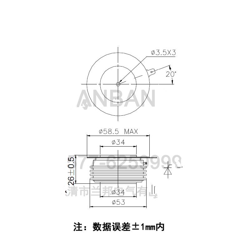 ZP500A 1600V ZP500-16-142_