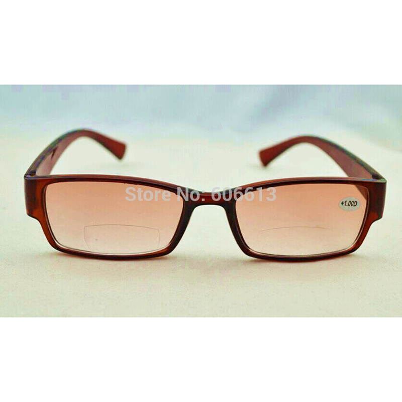 25f7738aebc Black Bifocal Reading Glasses brown New Colored Lens Vision Sun reader  gafas de lectura Oculos glasses magnifier Spectacles A1-in Reading Glasses  from ...