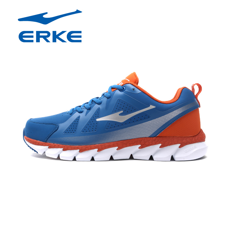 ERKE Mens Running Shoes 2017 Spring Autumn Lace Up Trainer Sports Shoes Outdoor Athletic Sport Sneakers for Men Comfortable