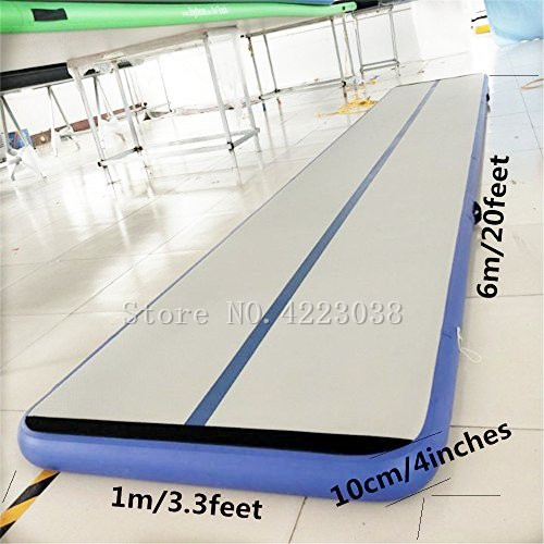 Free Shipping 6*1*0.1m Inflatable Air track Cheerleading Gym Mat Tumble Track Inflatable AirTrack For Sale Free Pump цена