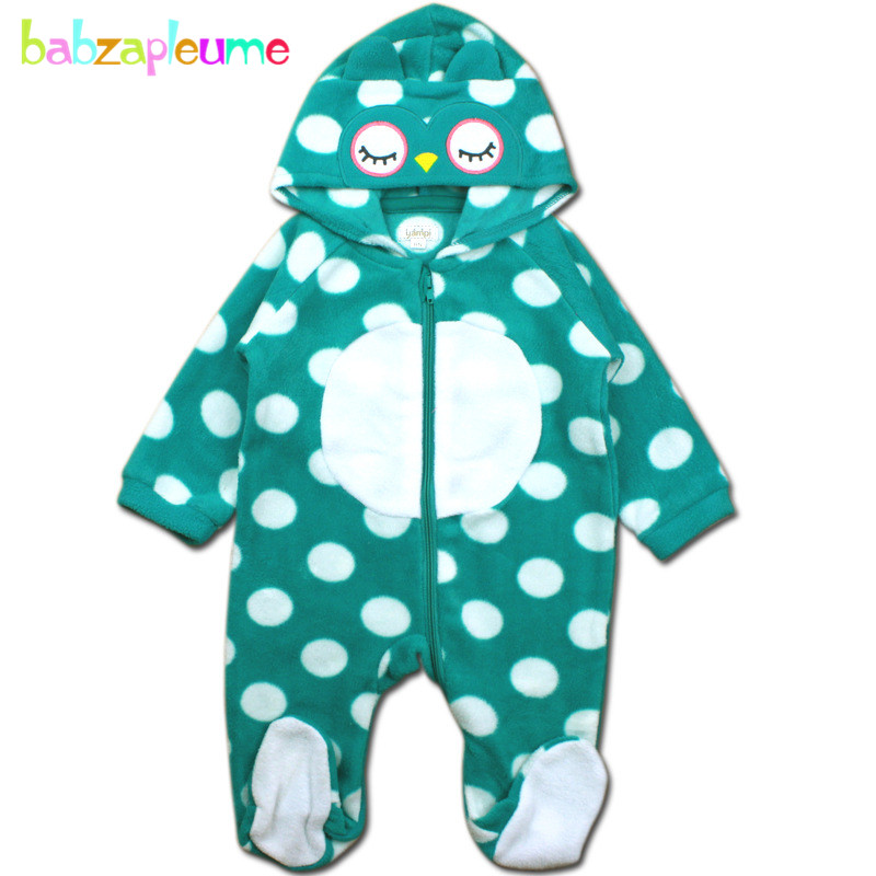 2017 new autumn winter newborn clothing baby boys girls clothes infant rompers animal costume Fleece hooded cute jumpsuit BC1369 baby rompers winter star patter long sleeve jumpsuits infant boys girls clothes newborn toddler costume children autumn clothing