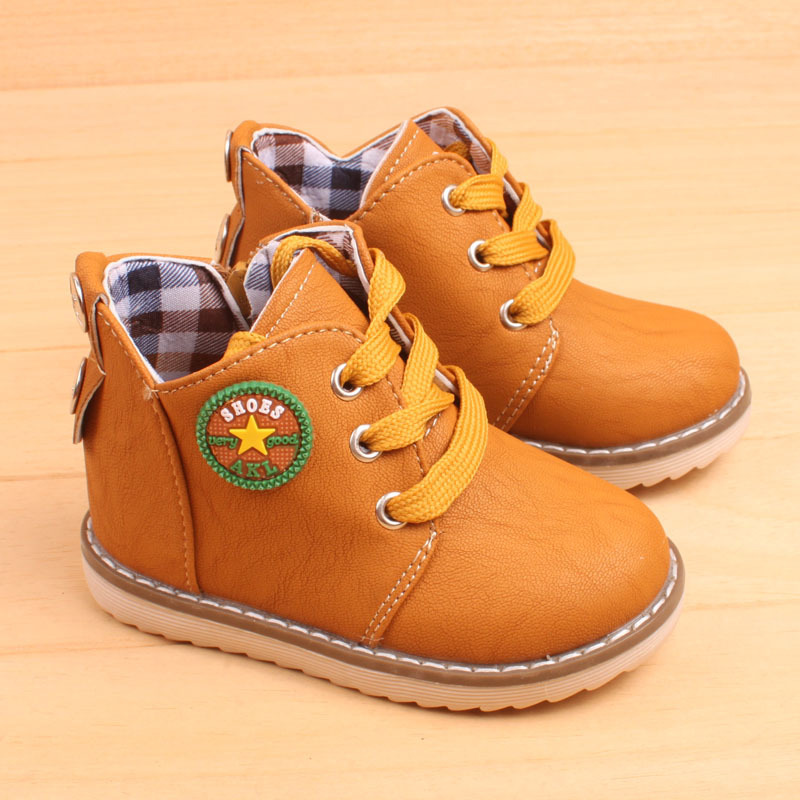 JUSTSL 2016 Childrens autumn winter boot kids keep warm snow boots safty quality non-slip classic shoes for boys girls