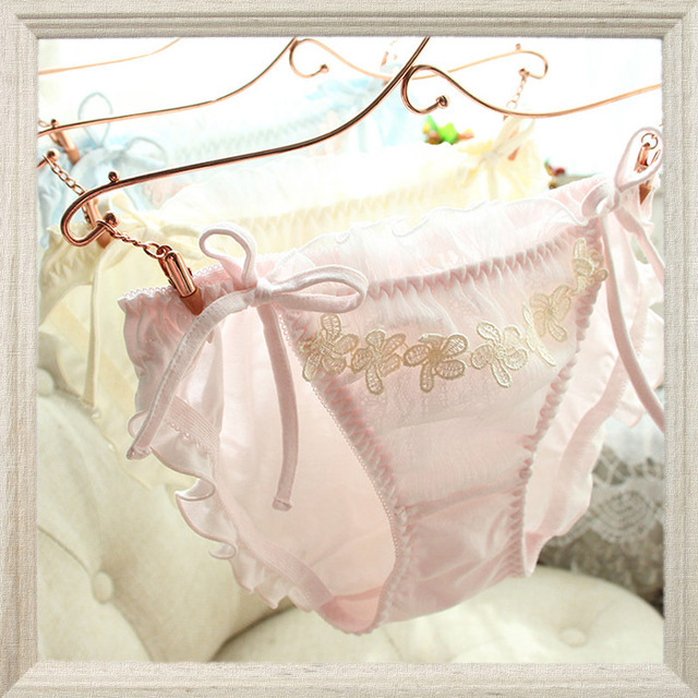 f641905c4f2 Japan underwear comfortable cotton lace Chiffon winter flash waist sweet  girls string tanga bragas culotte femme string sexy