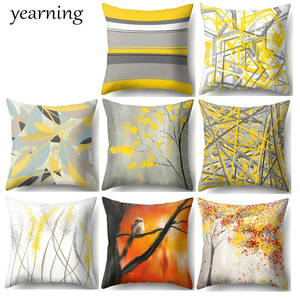 Color Yellow Pattern Cushion C