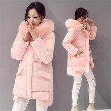 Down Jacket 2016 New Winter Women Coat Thicken Warm Fur collar Long Cotton Winter Jacket Hooded