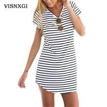 Striped O-Neck Sundress