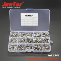 500pcs M3 M4 M5 A2 Stainless Steel ISO7380 Button Head Allen Bolts Hexagon Socket Screws With Nuts Assortment Kit NO.2346