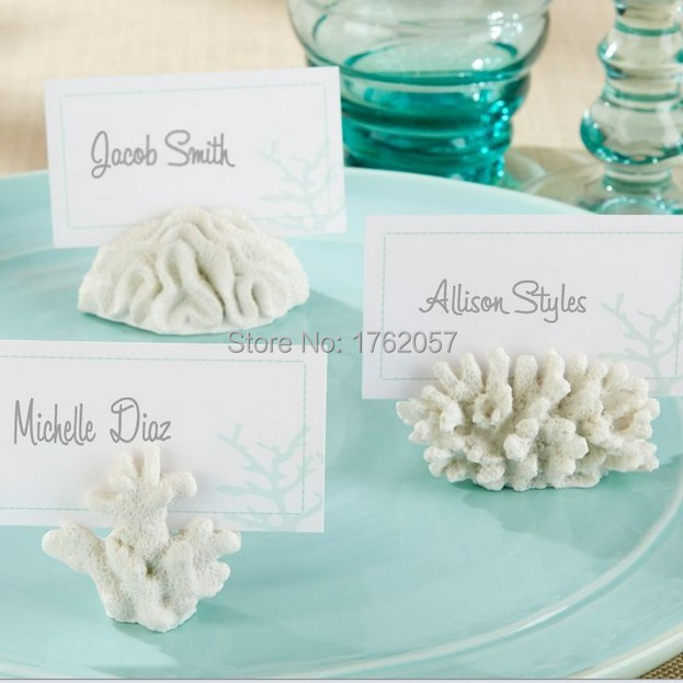 36pcs/lot Seven Seas Coral Place Card Photo Holder wedding party photo frame Factory t Selling