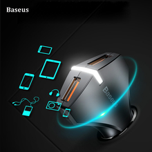Baseus Quick Charge 3.0 Dual USB Port Car Charger 5V3A QC3.0 Turbo Fast Charging USB Charger for iPhone Samsung Xiaomi phone
