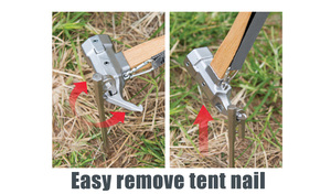 Image 5 - Multifunctionele Camping Hamer Met Band Staal Ultra Licht Tent Nail Puller Schop Outdoor Tent Peg Accessoires Klimmen Tool