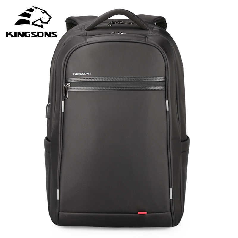 Kingsons Männer Rucksack Wasserdichte Männliche Rucksäcke Mode Laptop Rucksack 17 zoll Neue Schule Rucksack für Teenager Jungen