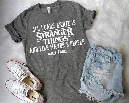 8-Bit Upside Down Stranger Things Netflix TV Horror Mike HWB045 Black T Shirt