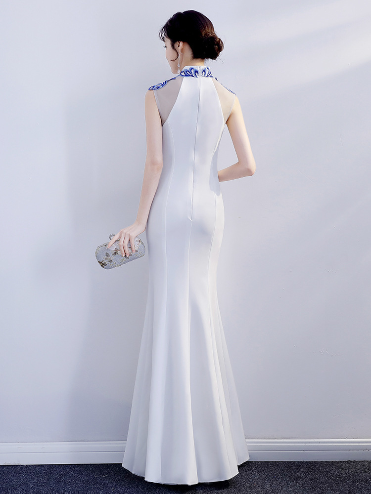 Titotato White Woman Sexy Maxi Summer Party Dress Women New Girl Long Show Grace Improvement Vestidos Dresses Big Sizes Vintage in Dresses from Women 39 s Clothing