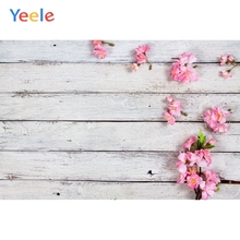 Yeele Wooden Board Planks Fresh Flowers Baby Portrait Photography Backgrounds Customized Photographic Backdrops for Photo Studio