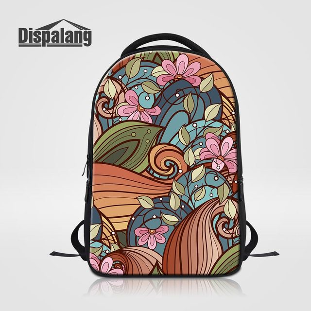 Large Capacity Backpack For 14 Inch Laptop Abstract Flower Girls School  Bags Women Casual Outdoors Computer Bagpack Woman Rugzak becaeca2e757e