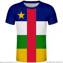 แอฟริกากลาง t เสื้อโลโก้ฟรีที่กำหนดเองชื่อหมายเลข caf เสื้อยืด nation flag centrafricaine republic ภาษาฝรั่งเศสคำพิมพ์ภาพเสื้อผ้า