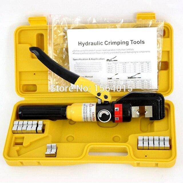 Гидравлический обжимной инструмент, Гидравлические Обжимные Щипцы, гидравлический компрессионный инструмент, диапазон 4 70 мм2, давление 6T