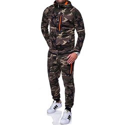 IceLion 2019 Spring Camouflage Hoodies Men Zipper Cardigan Hooded Sweatshirts Fashion Print Sportswear Men's Slim Fit Tracksuit 3