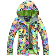 free shipping 2014 new color women's ski jacket mixed color Graffiti windproof waterproof snowboard jacket winter warm jacket