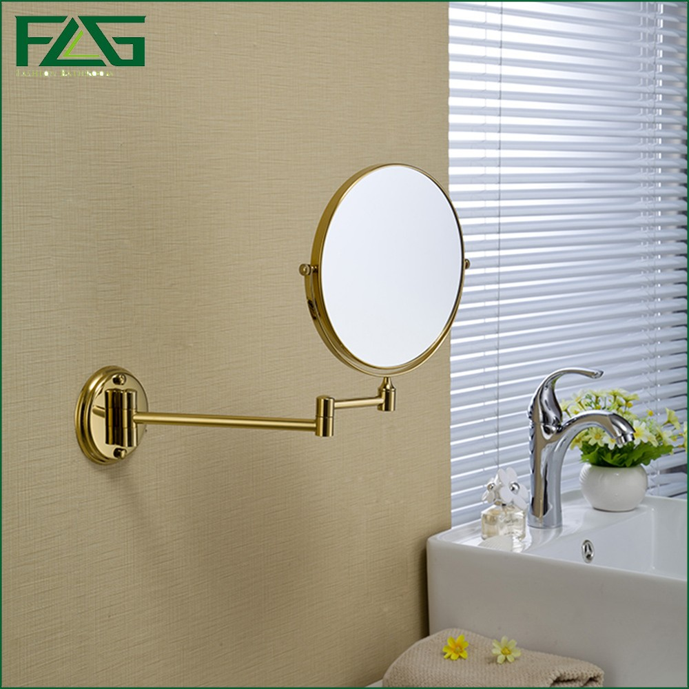 ФОТО FLG Brass Bathroom Magnifying Mirror,Chrome Finish 6/8 Inch,Wall Mounted Magnifying Mirror JZ024