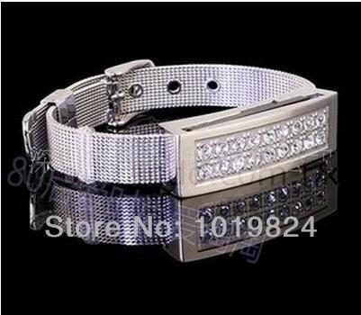 100% real capacityCrystal bracelet Strap diamond 8GB16GBUSB 2.0 Flash Memory Stick Drive Thumb/Car/Pen free shippingS200 28% off