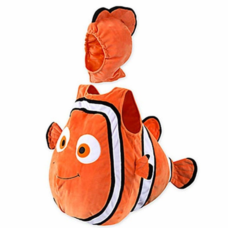 Classic Movie Anime Clown Fish Moni Cute Child Cosplay Costume Halloween Christmas Baby Combination Play Costume