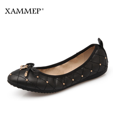 Xammep Women Flats Spring Autumn Plus Big Size Brand Women Shoes Women Sneakers Soft Comfortable Round Toe Female Casual Shoes(China)