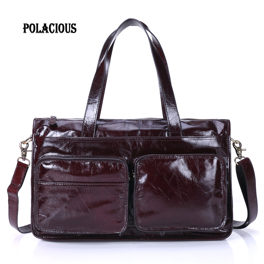 Genuine Leather Men Bag Crazy Horse Leather Men's Handbags Casual Business Laptop Shoulder Bags Briefcase Messenger bag 2016 NEW bimuduiyu trend casual shoes for men fashion light breathable lace up male shoes high quality suede leather black flats shoes