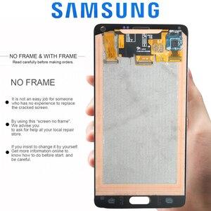 Image 3 - ORIGINAL 5.7 LCDสำหรับSAMSUNG Galaxy Note 4 Note4 N910 N910C N910A N910FจอแสดงผลTouch Screen Digitizer Assembly