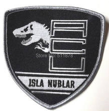 Jurassic World Isla Nublar ACU film Movie TV Series Fancy Dress Costume Embroidered iron on patch TRANSFER APPLIQUE(China)