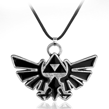 The Legend of Zelda Necklace Collares Zelda Triforce Hylian Crest Pendant Necklace Collier Game Jewelry