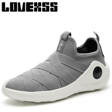 LOVEXSS Fall2017 High Elastic Running Shoes For Men Super Light Sport Run Athletic Shoes Man Brand Breathable Men's Sneakers