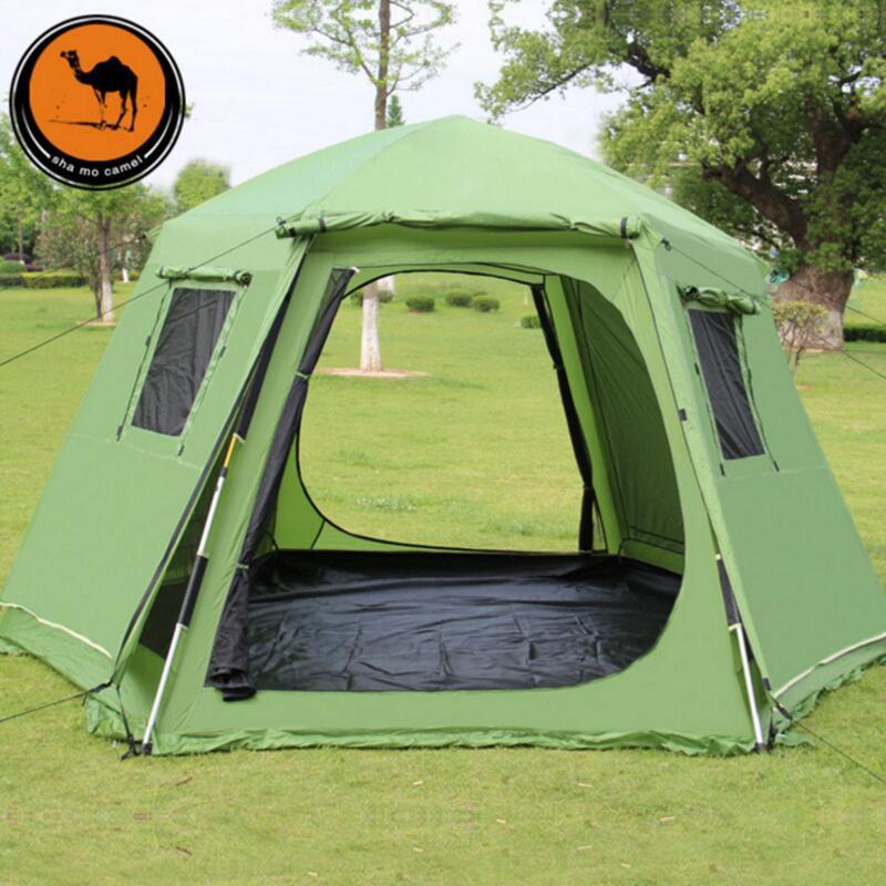 5 8 personnes en plein air automatique tente yourte espace intérieur grande tente de Camping pour le repos famille partie Gazebo tentes Pergola étanche