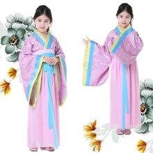 Alta Calidad Niños Ropa Chica Chang'e Antigua Hanfu Traje Chino Tradicional Traje Chino de la Dinastía Qing Traje 89