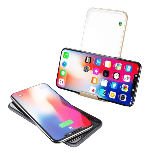 promo code 0166e a86c4 US $16.4 33% OFF|2018 Foldable Wireless Charger C7 Vertical Horizontal Fast  Wireless Charger Plate Fast Charging QI Transmit for iPhone X /Note8 -in ...