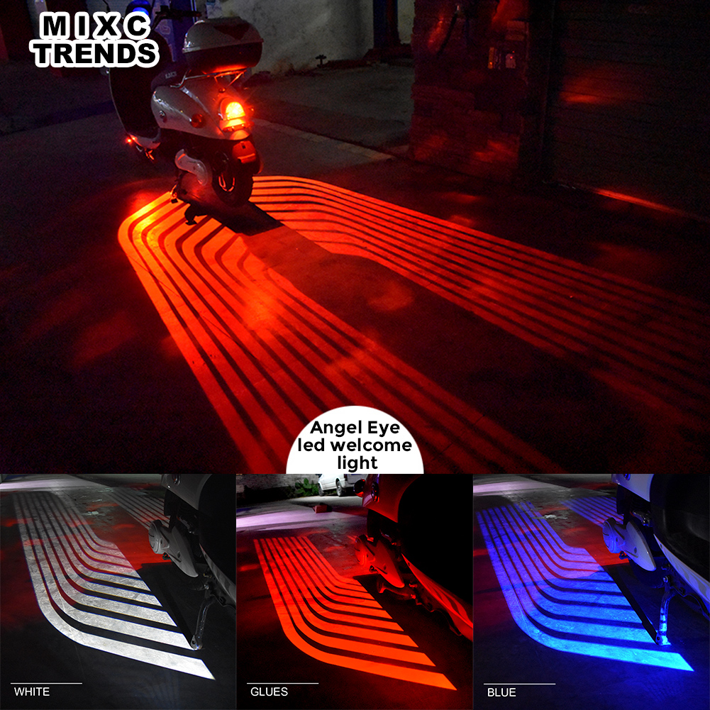 2Pcs Angel Wings Car Welcome Light Shadow Light Projector Car Motorcycle LED Door Warning Light Lamp