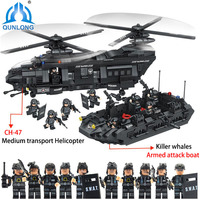Toys For Children Compatibile For Lego Minecraft Armed Police Corps Transport Aircraft Educational Toys Hobby Regalo