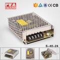 S-40-24 24 v fuente de alimentación constante cargador de batería CE Aprobado