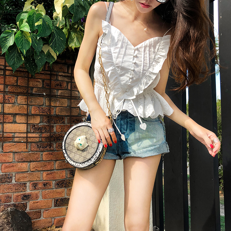 Short Boho Chic Top 2019 été femmes Sexy col en v blanc coton Blouses femmes mode coréenne blusas