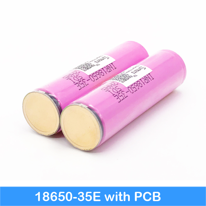 flashlight 18650 35e 3500mAh 18650 protected battery head flashlight bike battery with protected PCB for Turmera jun4