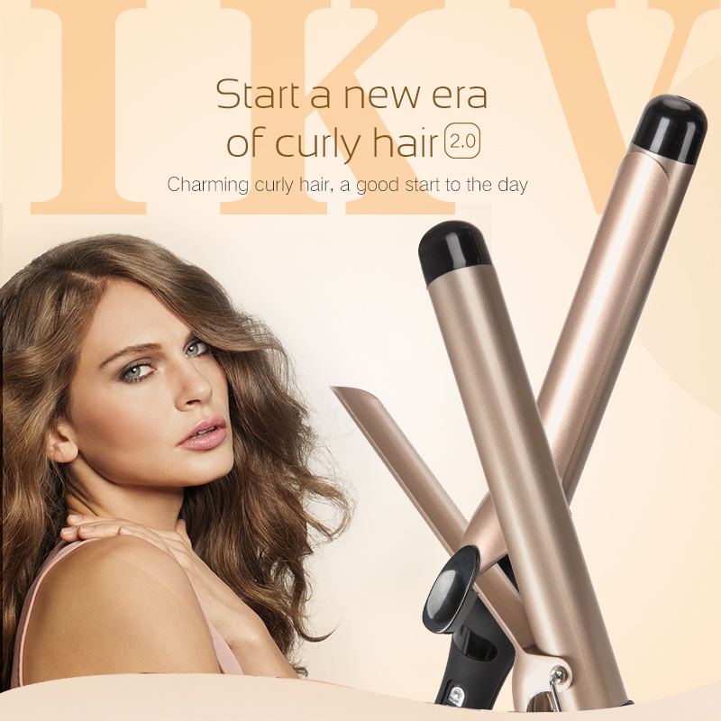 Купить с кэшбэком IKV Guaranteed Quality wand curling iron curling hair tools Popular hair electric curlers rollers With US,EU,UK Plug