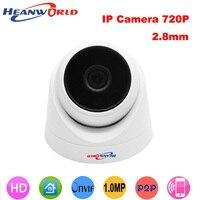 Heanworld 720 p ip cámara domo 2.8mm gran angular cctv cámara sistema de seguridad de vigilancia ip cámara 1.0mp hd nocturna de la cámara visión